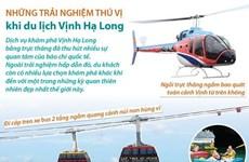 [Infographics] Những trải nghiệm thú vị khi du lịch Vịnh Hạ Long