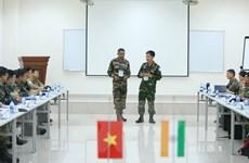 Việt Nam và Ấn Độ diễn tập chung trên sa bàn về gìn giữ hòa bình
