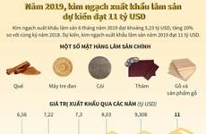 [Infographics] Xuất khẩu lâm sản năm 2019 dự kiến đạt 11 tỷ USD