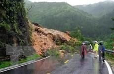 Sạt lở gây chia cắt tạm thời trên một số quốc lộ qua tỉnh Lai Châu