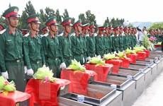Gia Lai: Truy điệu, an táng 61 liệt sỹ tại nghĩa trang thị xã An Khê