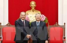Thường trực Ban Bí thư tiếp Đoàn đại biểu Đảng Nhân dân Cách mạng Lào