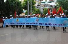 Míttinh hưởng ứng Ngày toàn dân phòng, chống mua bán người