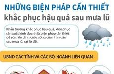 [Infographics] Những biện pháp cần thiết khắc phục hậu quả sau mưa lũ