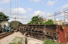 Đồng Nai: Tàu chở hàng trật bánh, đường sắt Bắc-Nam bị gián đoạn