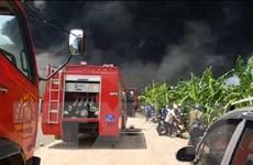 Hỏa hoạn thiêu rụi một xưởng sản xuất nhựa ở tỉnh Đồng Nai