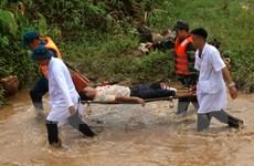 [Photo] Diễn tập ứng phó lũ quét, sạt lở đất và cứu nạn ở Lào Cai