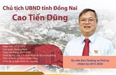 [Infographics] Chân dung Chủ tịch UBND tỉnh Đồng Nai Cao Tiến Dũng