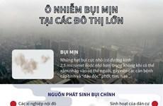 [Infographics] Ô nhiễm bụi mịn tại các đô thị lớn ở Việt Nam