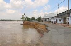 [Photo] Sạt lở bờ sông, bờ biển tại ĐBSCL ngày càng nghiêm trọng