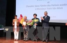 Hai học giả Việt Nam được trao tặng Huân chương Hiệp sỹ của Pháp
