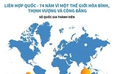 [Infographics] LHQ - 74 năm vì một thế giới hòa bình, thịnh vượng