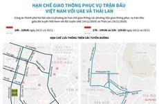 [Infographics] Hạn chế giao thông phục vụ trận đấu Việt Nam với UAE
