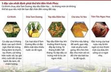 [Infographics] 5 đặc sản nhất định phải thử khi đến Vĩnh Phúc