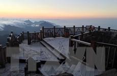 Lào Cai: Sương muối phủ trắng đỉnh Fansipan, nhiệt độ dưới 0 độ C