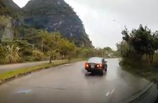 Xác minh vụ lái xe lùi trên đường một chiều tránh chốt đo nồng độ cồn