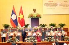 Trao tặng Huân chương Lào cho các cá nhân, tập thể Quốc hội Việt Nam