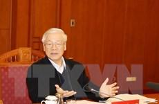 [Photo] Tổng Bí thư chủ trì họp Tiểu ban Văn kiện ĐH XIII của Đảng