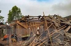 [Photo] Dông lốc tại các tỉnh miền núi phía Bắc gây thiệt hại nặng nề