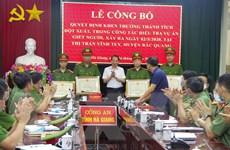 Hà Giang: Khen thưởng các đơn vị điều tra nhanh vụ giết chủ nhà nghỉ