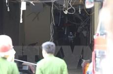 [Photo] Hà Nội: Nổ lớn ở ngôi nhà 5 tầng số 32 Cửa Nam