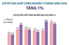 [Infographics] Chỉ số sản xuất công nghiệp 5 tháng tăng 1%