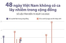 [Infographics] 48 ngày Việt Nam không có ca lây nhiễm trong cộng đồng