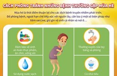 [Infographics] Cách phòng tránh những bệnh thường gặp mùa hè