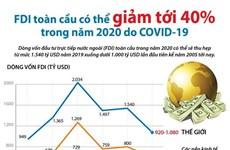 [Infographics] FDI toàn cầu có thể giảm 40% trong năm 2020 do COVID-19
