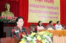 Chủ tịch Quốc hội tiếp xúc cử tri tại thành phố Cần Thơ, quận Thốt Nốt