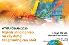 [Infographics] Ngành công nghiệp và xây dựng tăng trưởng cao nhất