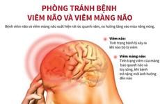 [Infographics] Phòng tránh bệnh viêm não và viêm màng não