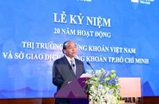 [Photo] Thủ tướng dự kỷ niệm 20 năm hoạt động thị trường chứng khoán