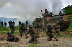 Hàn-Mỹ nhất trí sẽ tiến hành tập trận mùa Hè quy mô nhỏ hơn