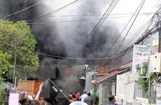 Kiên Giang: Hỏa hoạn thiêu rụi gần chục căn nhà ở thành phố Rạch Giá