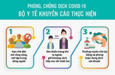 [Infographics] Bộ Y tế khuyến cáo biện pháp phòng chống dịch COVID-19