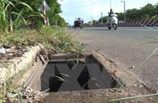 Bình Phước điều tra đối tượng trộm nắp hố ga trên đường ĐT.741