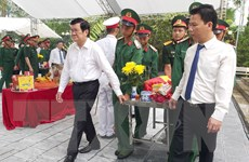 Truy điệu và an táng hài cốt liệt sỹ tại Nghĩa trang quốc gia Vị Xuyên