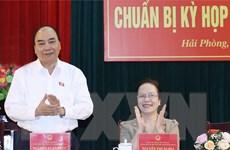[Photo] Thủ tướng Nguyễn Xuân Phúc tiếp xúc cử tri Hải Phòng