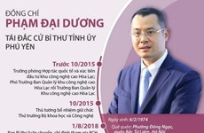 [Infographics] Ông Phạm Đại Dương tái đắc cử Bí thư Tỉnh ủy Phú Yên