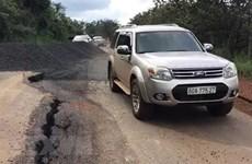 Bình Phước công bố tình huống khẩn cấp sạt lở đường Sao Bọng-Đăng Hà