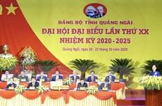 [Photo] Khai mạc Đại hội đại biểu Đảng bộ tỉnh Quảng Ngãi lần thứ XX