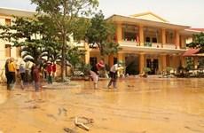 Nước lũ trên các sông tại tỉnh Quảng Bình đang xuống nhanh