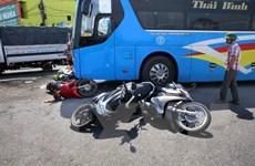 Quảng Trị: Xe khách gây tai nạn giao thông, 4 người bị thương