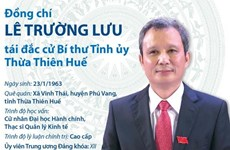 [Infographics] Bí thư Tỉnh ủy Thừa Thiên-Huế Lê Trường Lưu