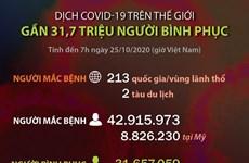 [Infographics] Dịch COVID-19: Gần 31,7 triệu người đã bình phục