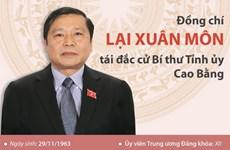 [Infographics] Ông Lại Xuân Môn tái đắc cử Bí thư Tỉnh ủy Cao Bằng