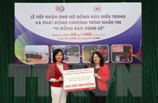 Hội Chữ thập Đỏ Việt Nam cứu trợ khẩn cấp bước đầu gần 2,6 tỷ đồng