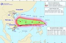 Gần Biển Đông bão giật cấp 16, áp thấp nhiệt đới đi sâu vào đất liền