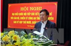 Phó Thủ tướng tiếp xúc cử tri chuyên đề với Công an tỉnh Thái Nguyên